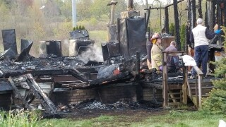 Two people were killed in an early morning house fire in Canton Township. Courtesy Canton Repository