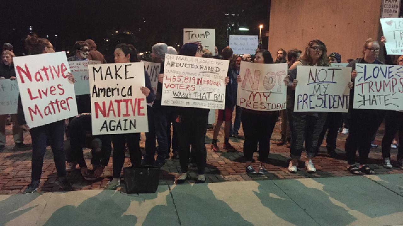 2 people arrested at Trump protest in Omaha, Nebraska