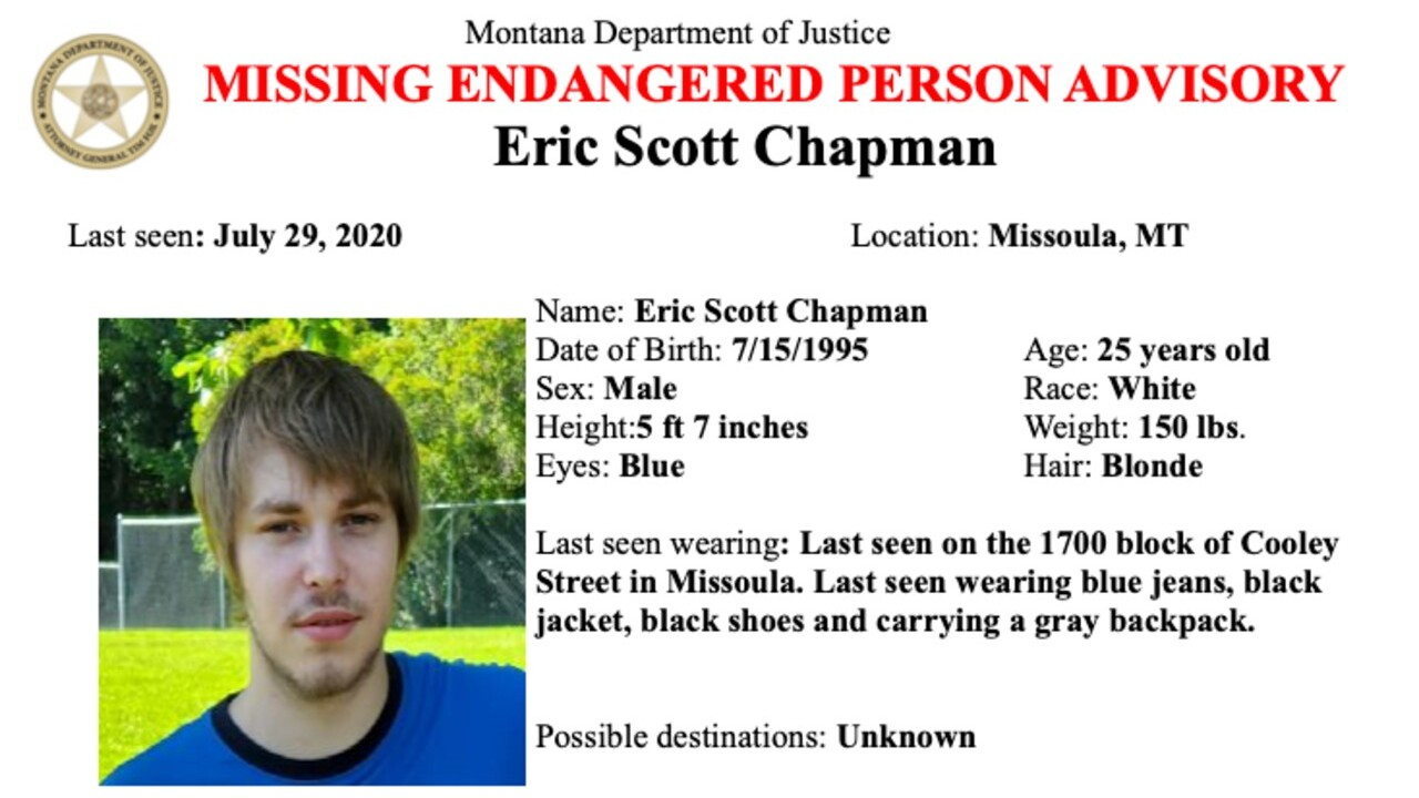 Missing Endangered Person Advisory issued for Missoula man