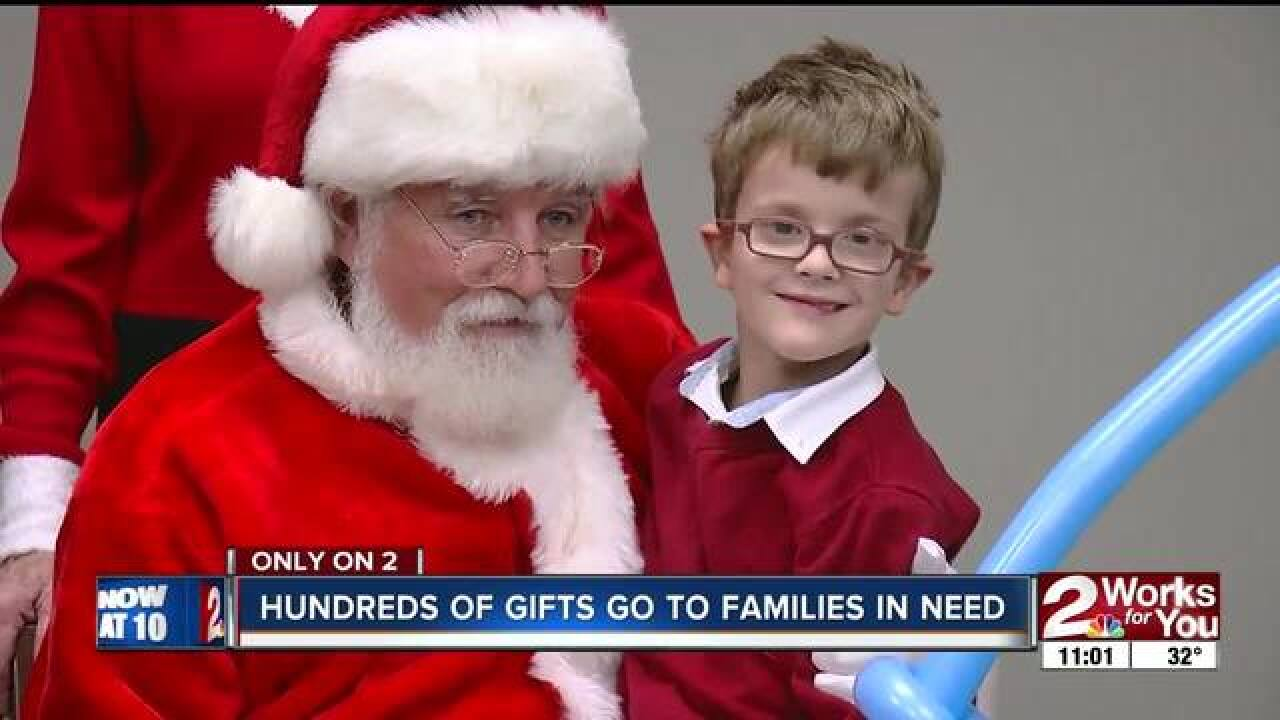 Hundreds of toys go to families in need