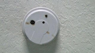 WPTV smoke detector after fire