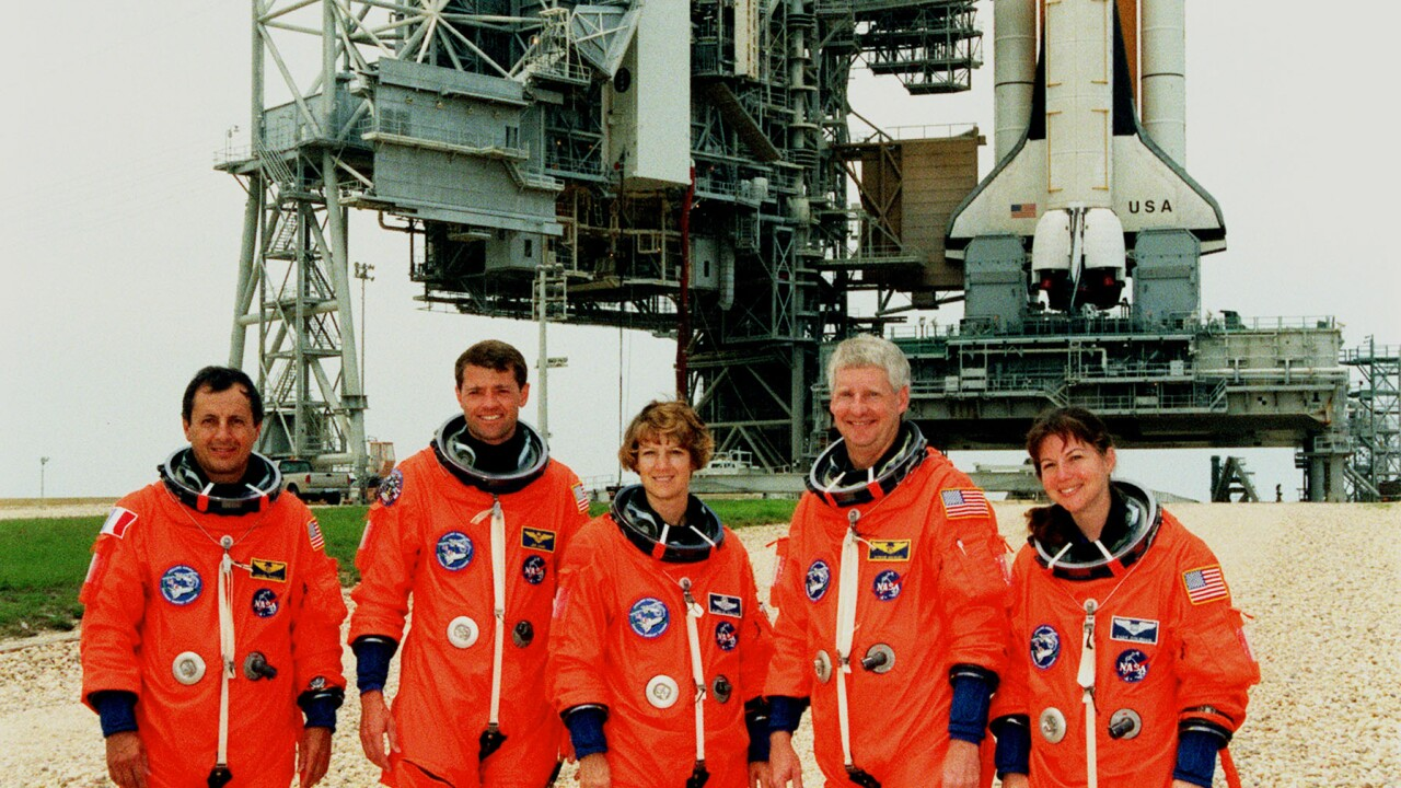 The STS-93 crew