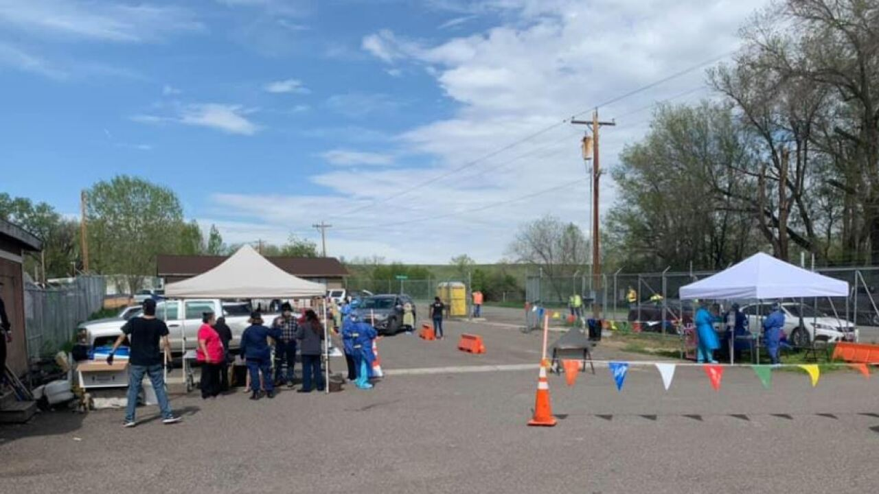 Crow tribe holding drive-through COVID-19 testing on reservation