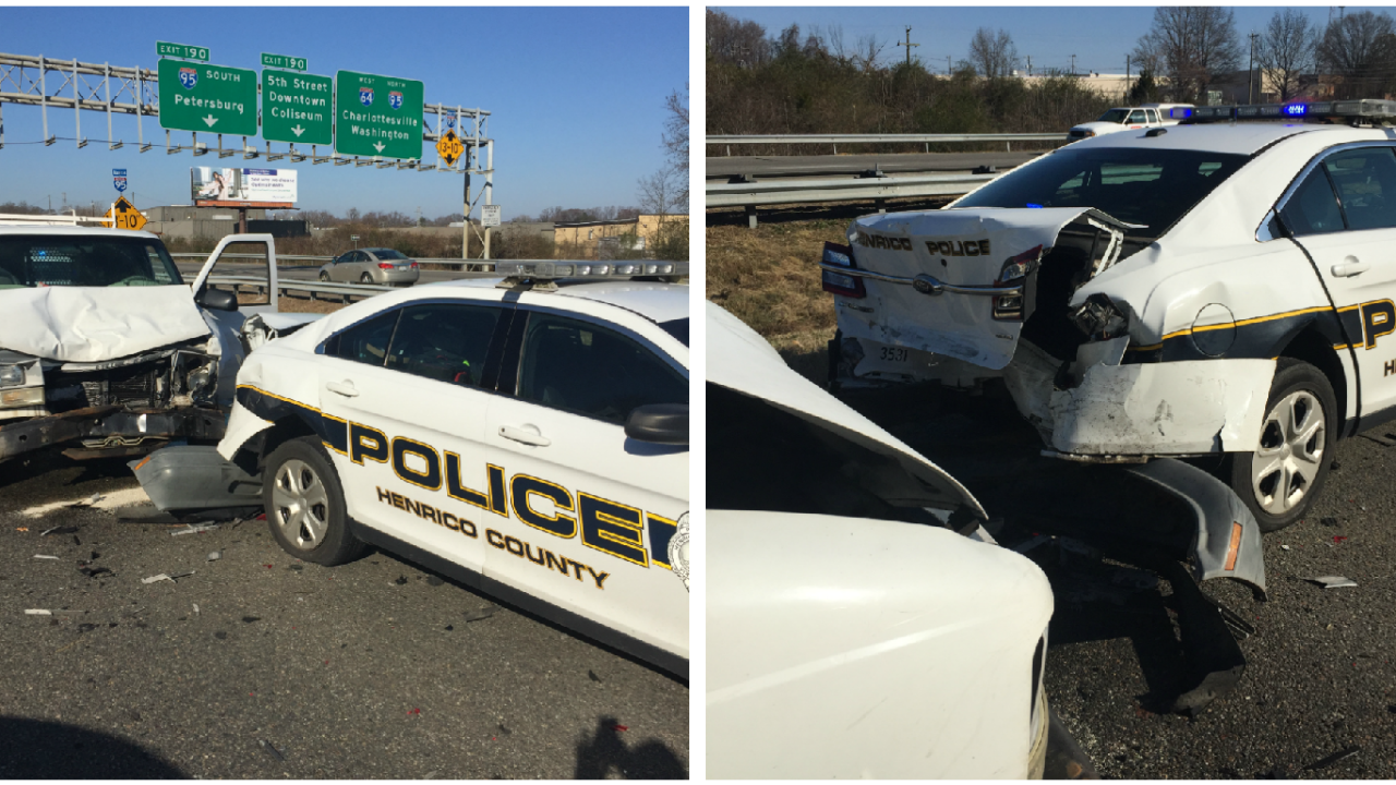 Driver charged with rear-ending Henrico police car: 'Please move over. It's the law'