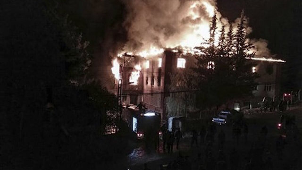 11 students dead in fire at girls dormitory in Turkey