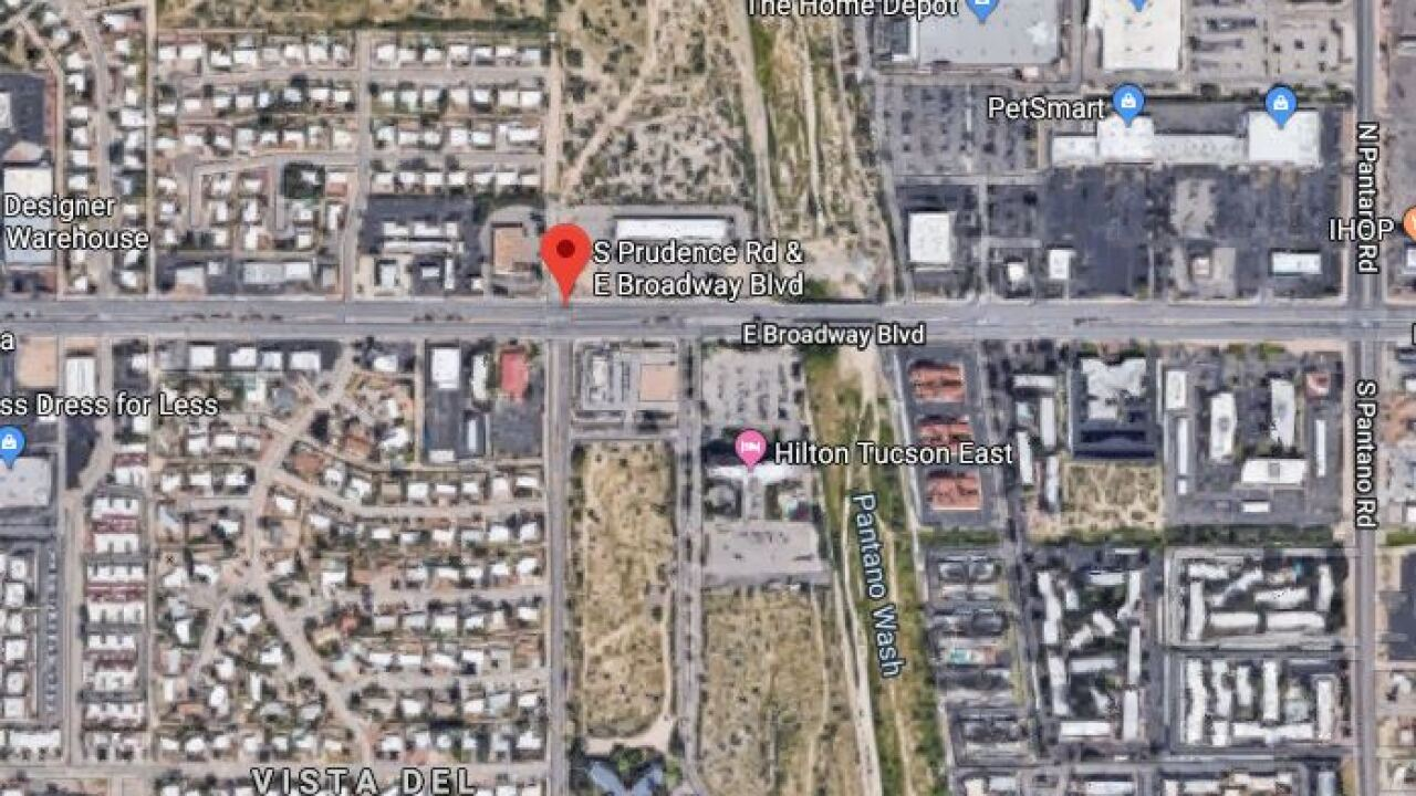 A bicyclist was seriously injured near Broadway and Prudence.