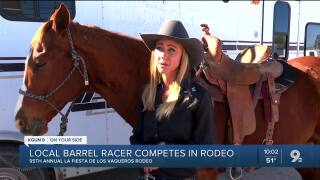 Local barrel racer competes in 95th annual La Fiesta de los Vaqueros Rodeo