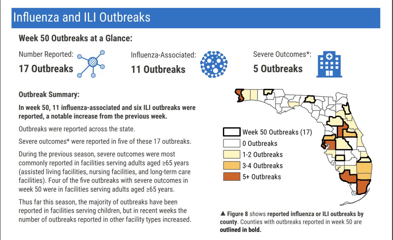 Flu outbreak data December 2019