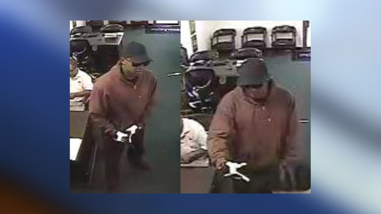 """Burgundy Bandit"" wanted for 9 robberies"