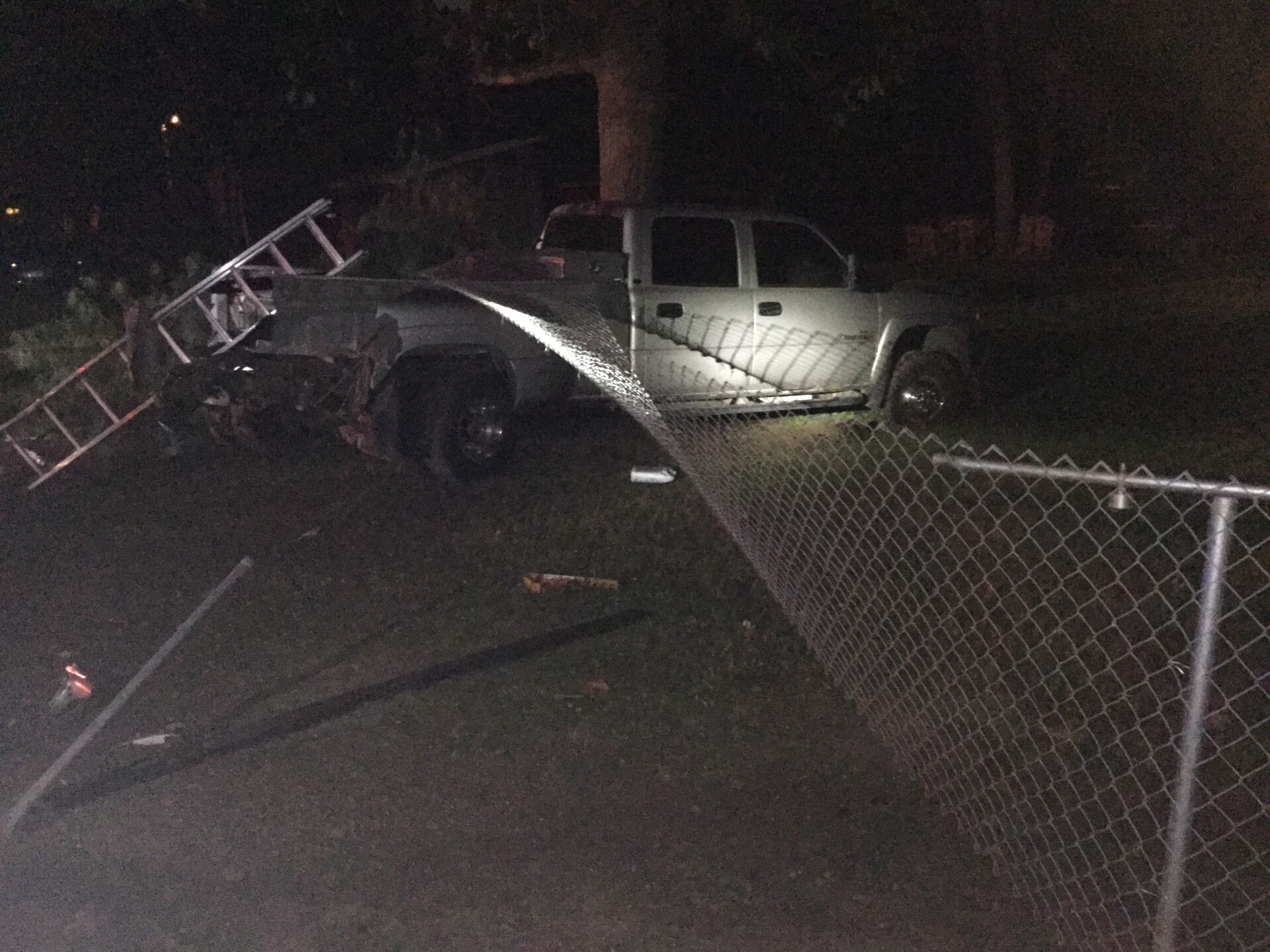 Photos: Indiana man hospitalized after hitting fence andtree
