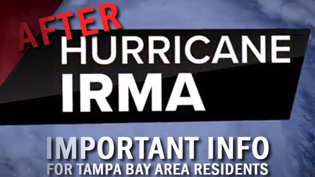 After Irma: Important info for Bay Area victims