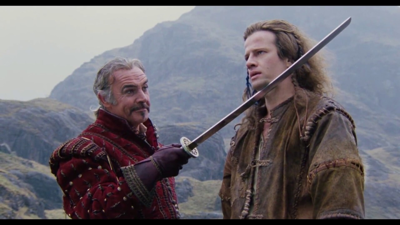 Sean Connery and Christopher Lambert in 'Highlander'