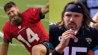 Ryan Fitzpatrick and Gardner Minshew, beard vs. mustache