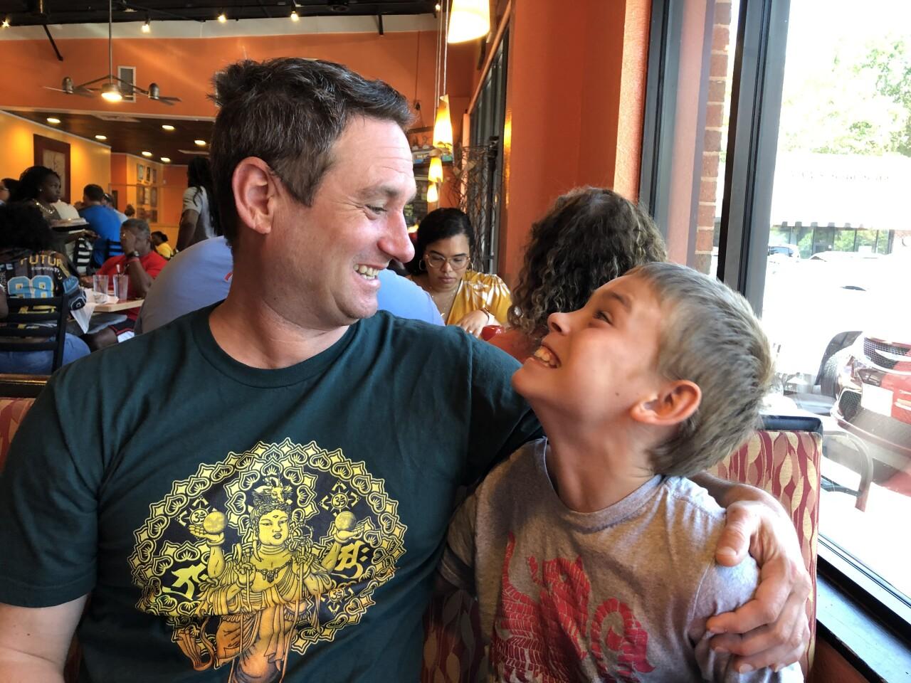 Chad Rosenbrock and son