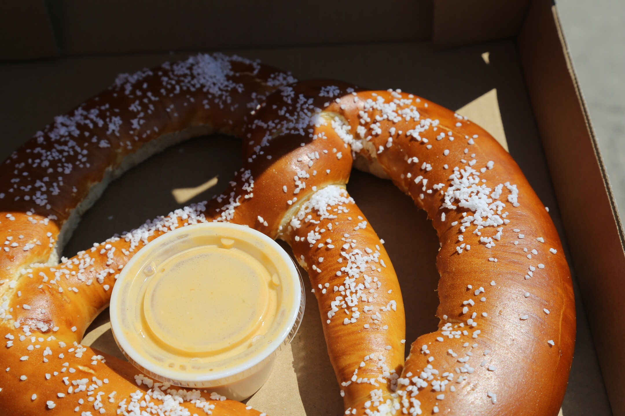 Giant Pretzel with Beer sauce