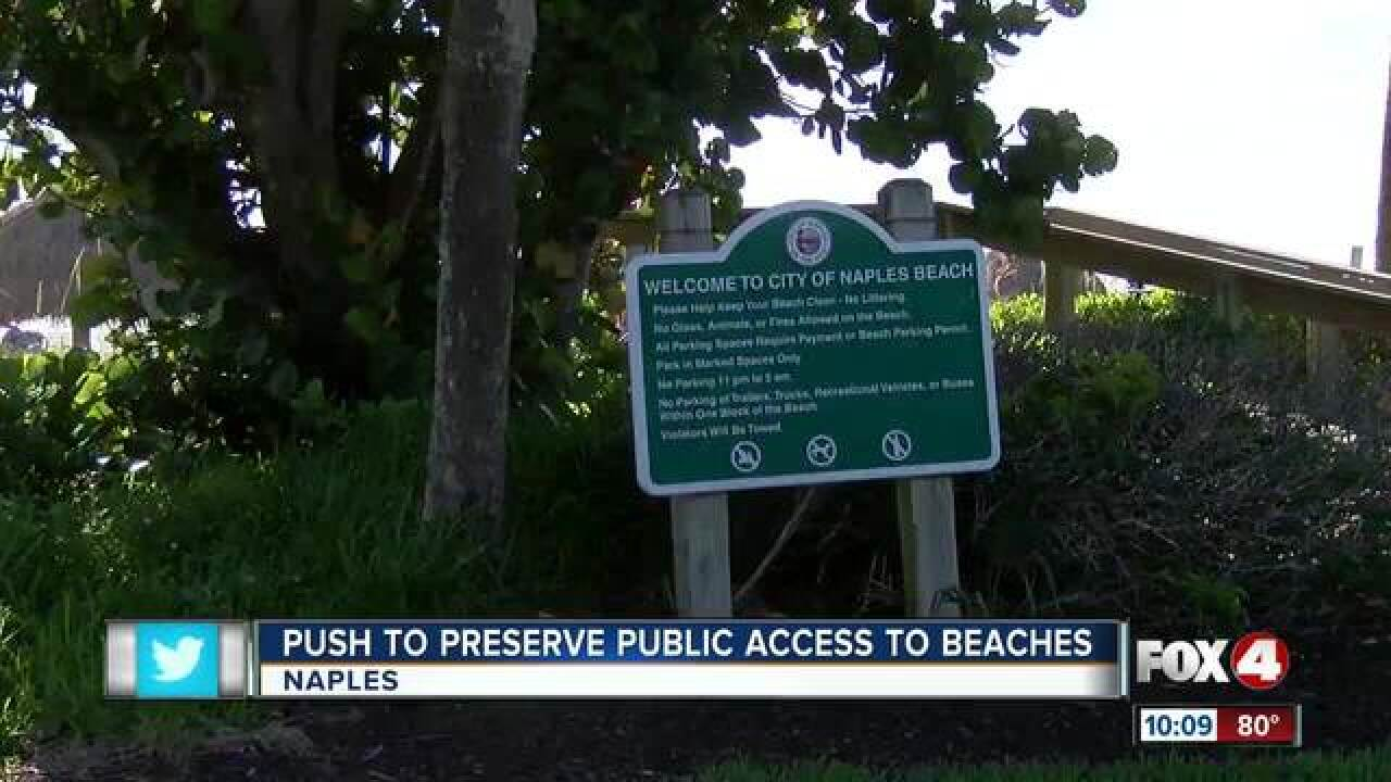 Naples passes its own beach ordinance