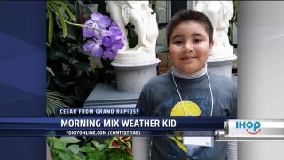 Morning Mix Weather Kid – Tuesday – Cesar