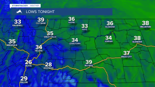 Areas of frost possible Monday morning
