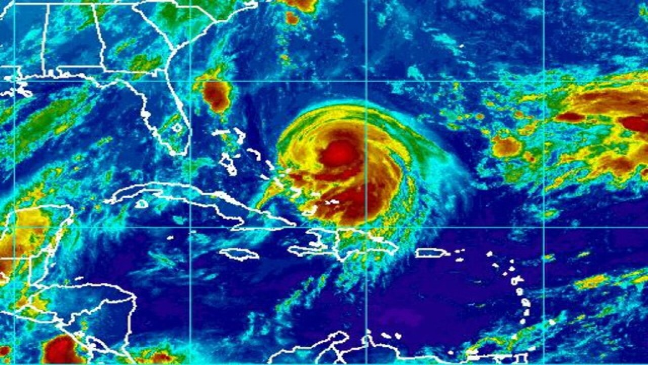 Hurricane warning issued in Bahamas