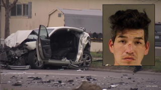 Man accused of running over construction worker and causing crashes