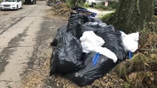 New Orleans Trash Hurricane Ida