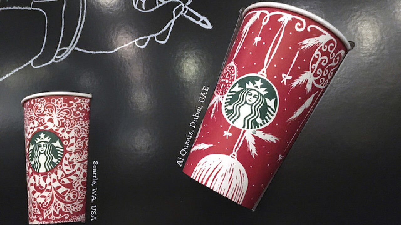 Starbucks' 2016 holiday cups feature Santa, traditional imagery