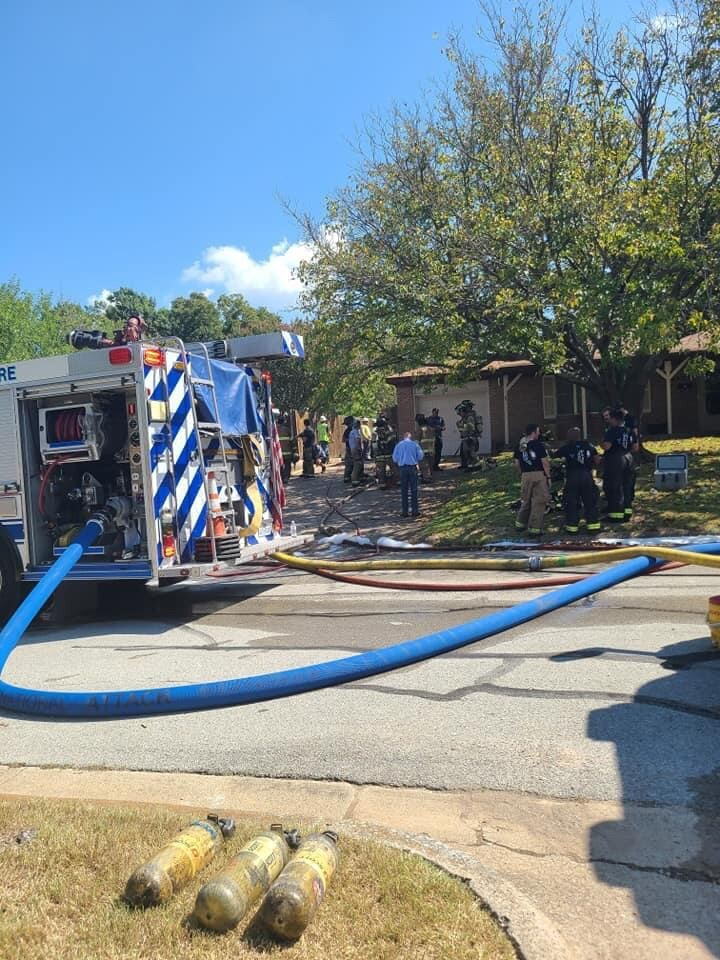 The local fire department was also called in to help control the scene.jpg