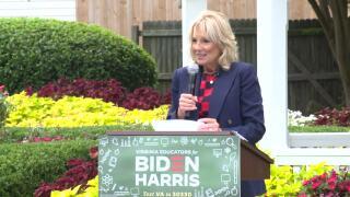 Jill Biden in Hampton