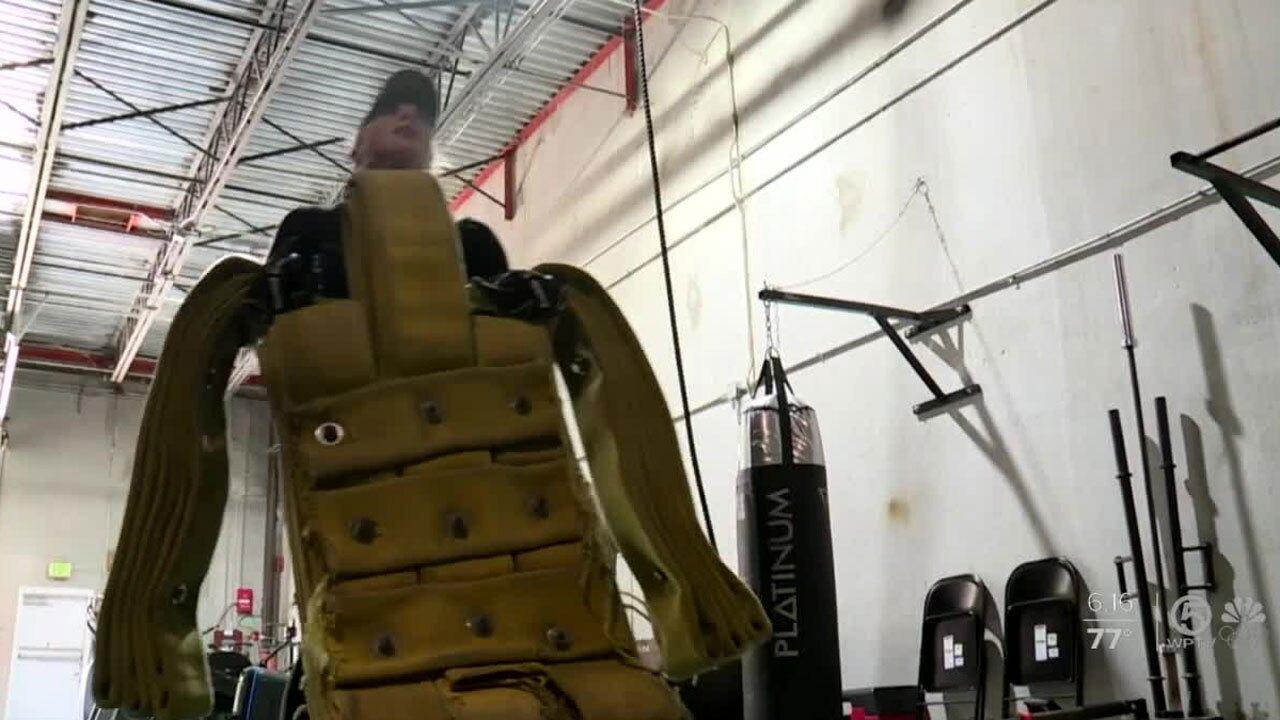 Alyssa Martinez, firefighter in training