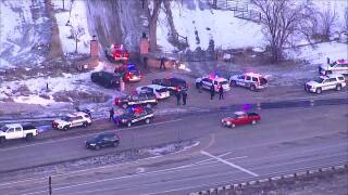 Large police presence at Rock Creek Farm in Boulder County