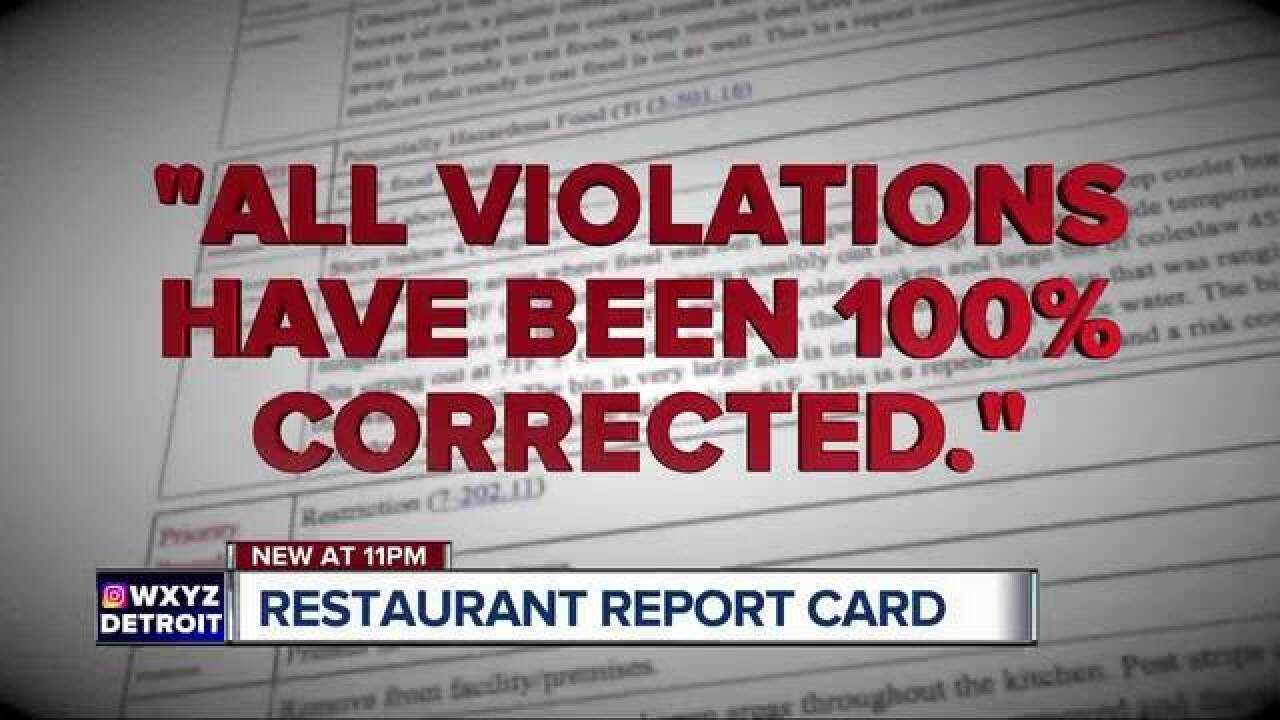 Restaurant report card: What inspectors found