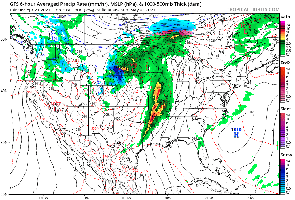 May 1st GFS Forecast