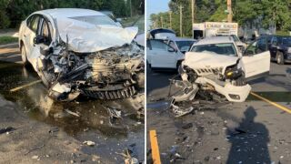 Mother, son injured in head-on collision in Mineola