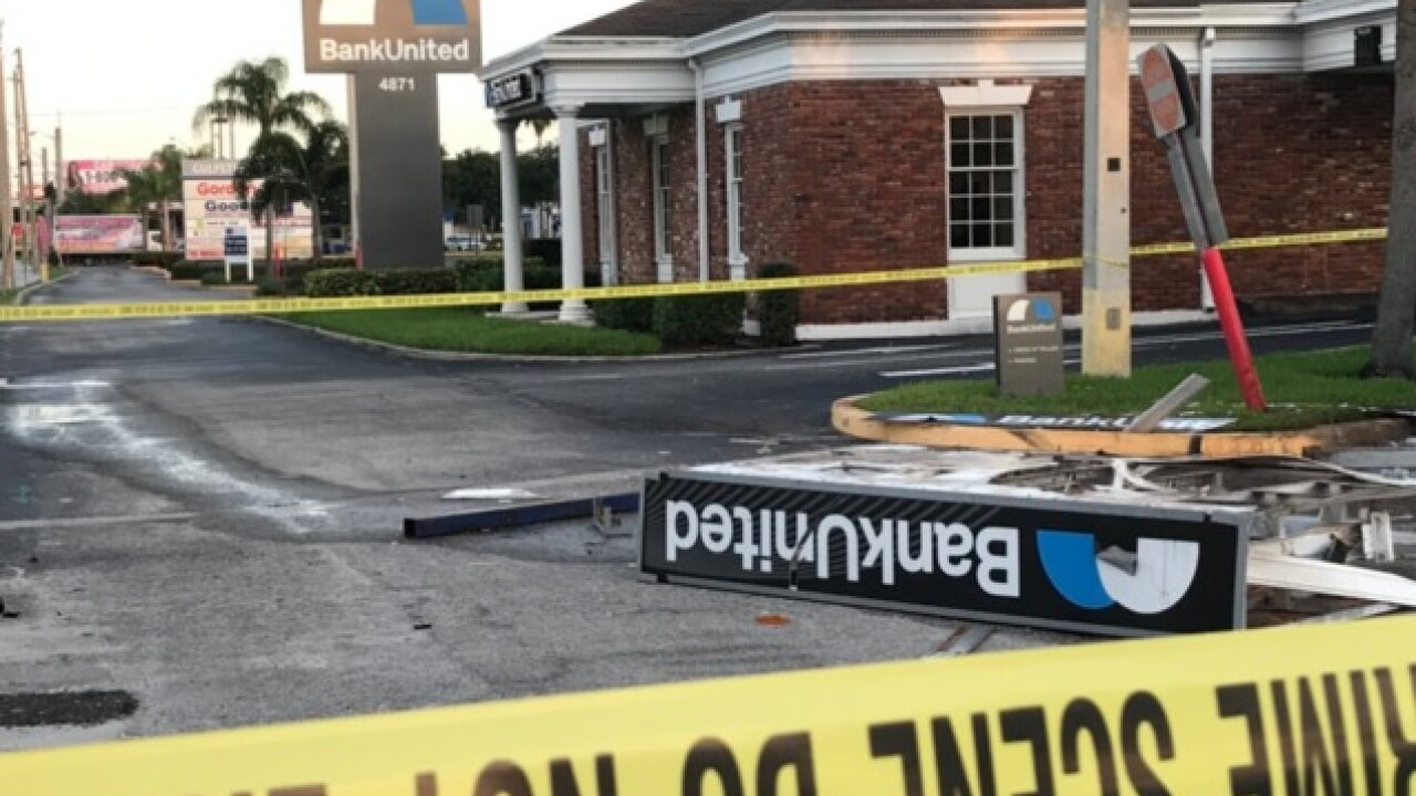 3 men sought after smashing large truck into ATM in suburban West Palm Beach
