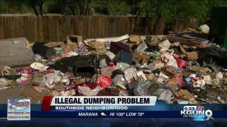 Trash piles up at Family Dollar in Tucson