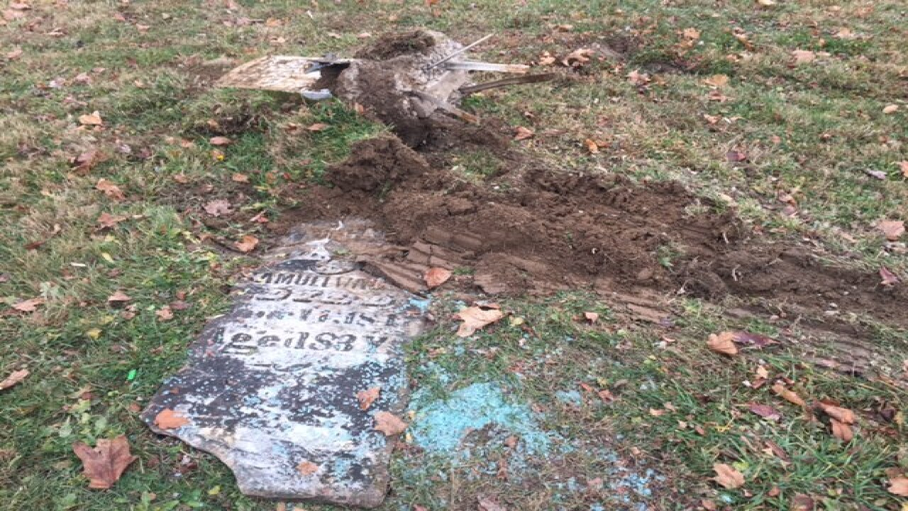 PD: Man steals box truck, crashes into cemetery