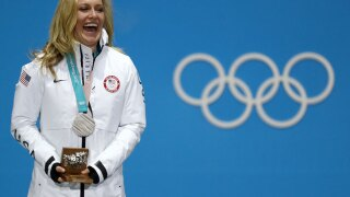 Jamie Anderson wins silver in first-ever Olympic women's snowboard big air