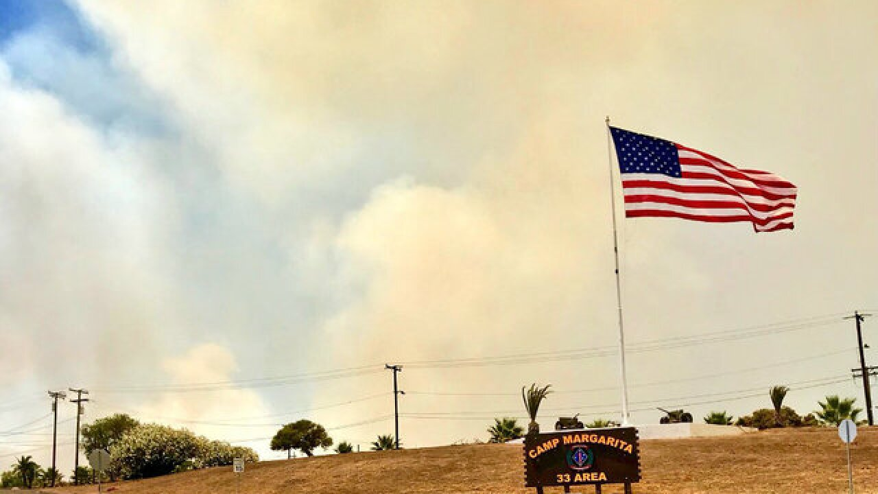 Small brush fire breaks out at Camp Pendleton