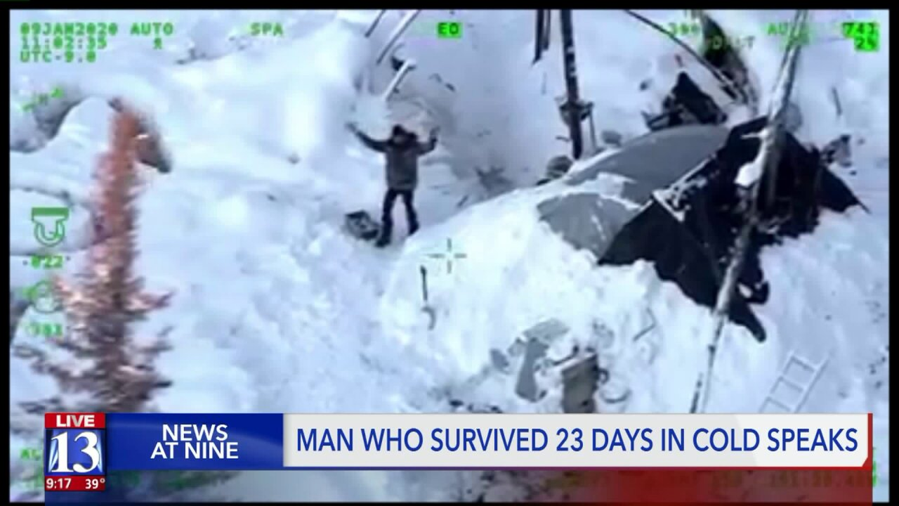 Utah man shares story of survival, dramatic rescue in Alaskan wild after losing home and dog tofire