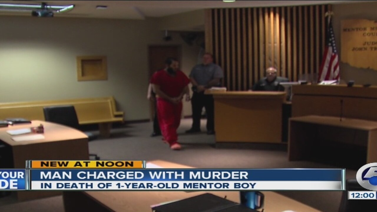 $1M bond for man charged in death of Mentor baby