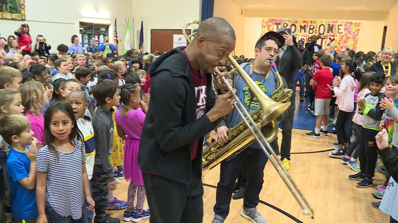 Trombone Shorty shares sweet sounds, sound advice with Short Pumpstudents