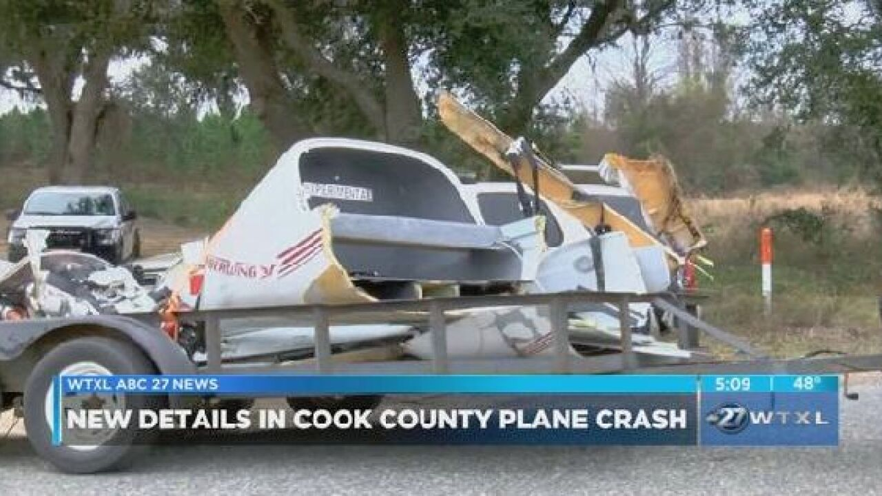 Investigation continues into Cook County plane crash