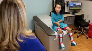 An American doctor is performing a rare surgery to help a 9-year-old Mongolian girl walk