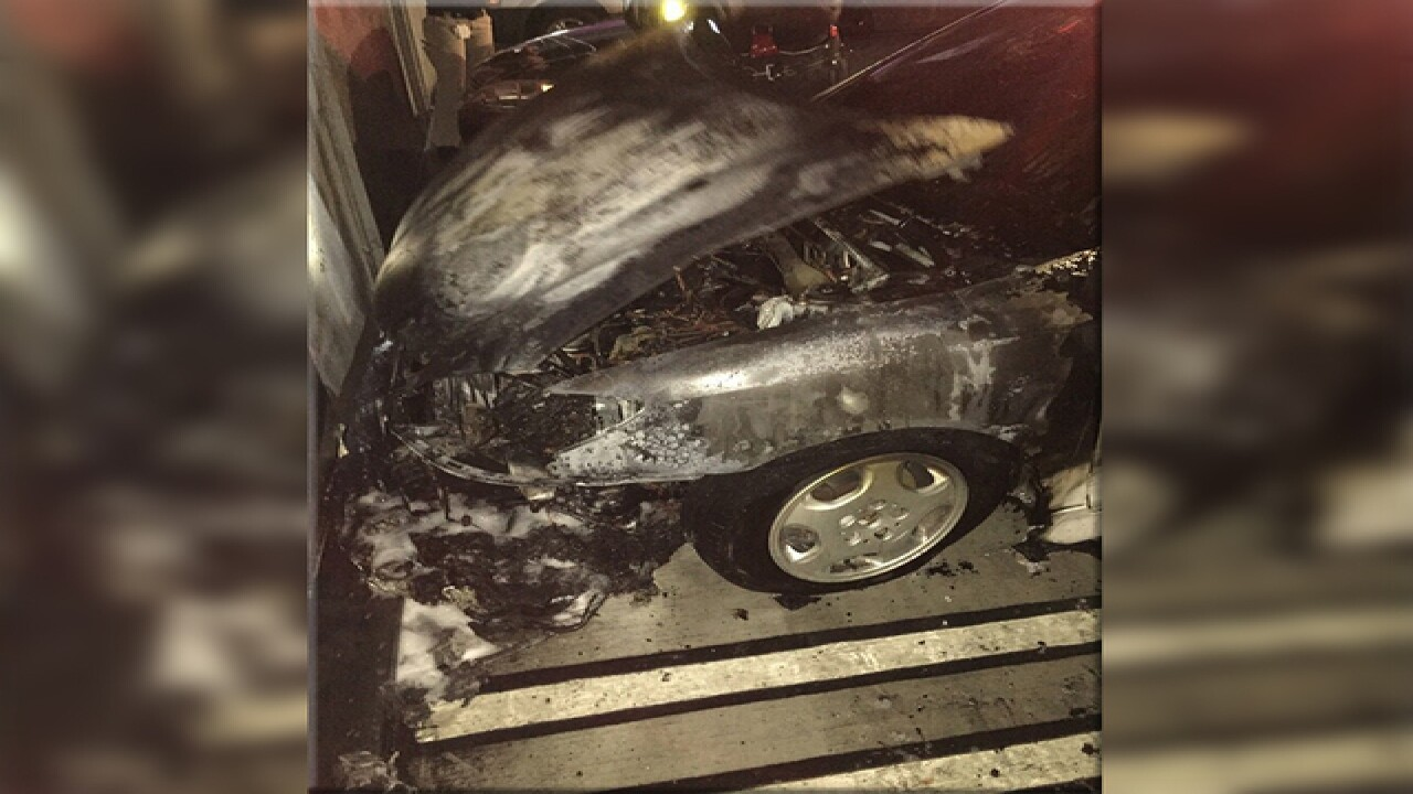 Car catches fire at USF student parking garage