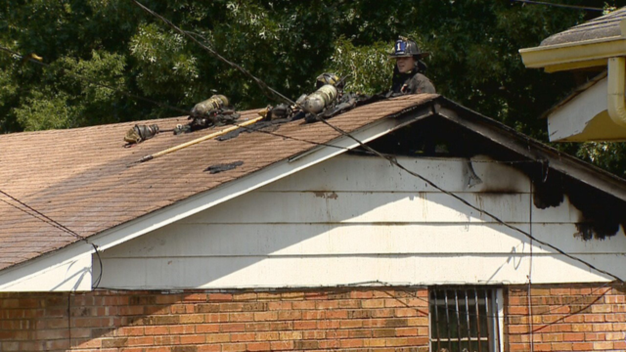 Home Damaged In Fire On Combs Drive