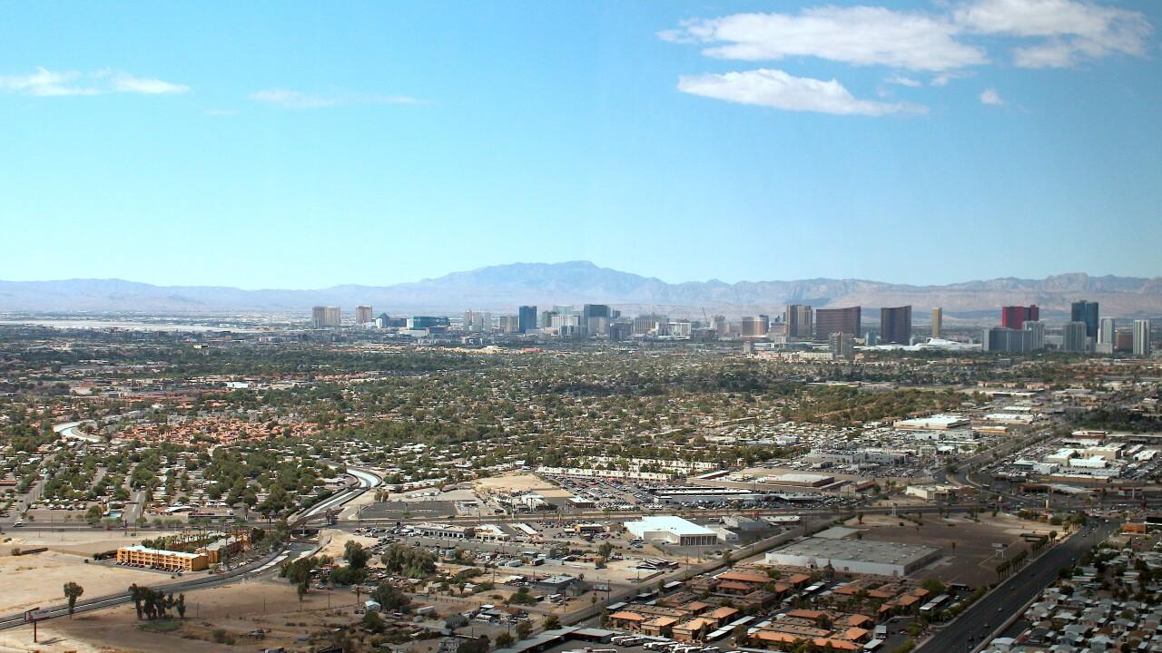 Aerial view Las Vegas Valley