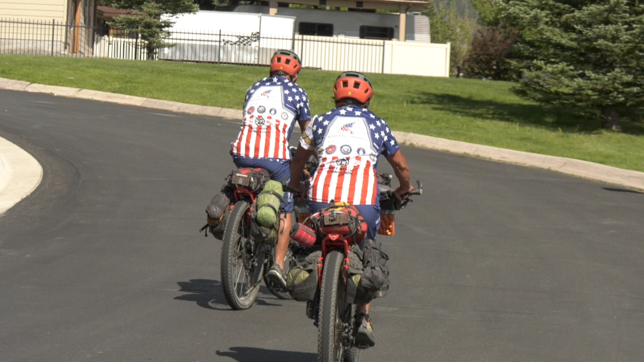 Marine family raising money for veterans by riding down Great Divide Mountain Bike Route