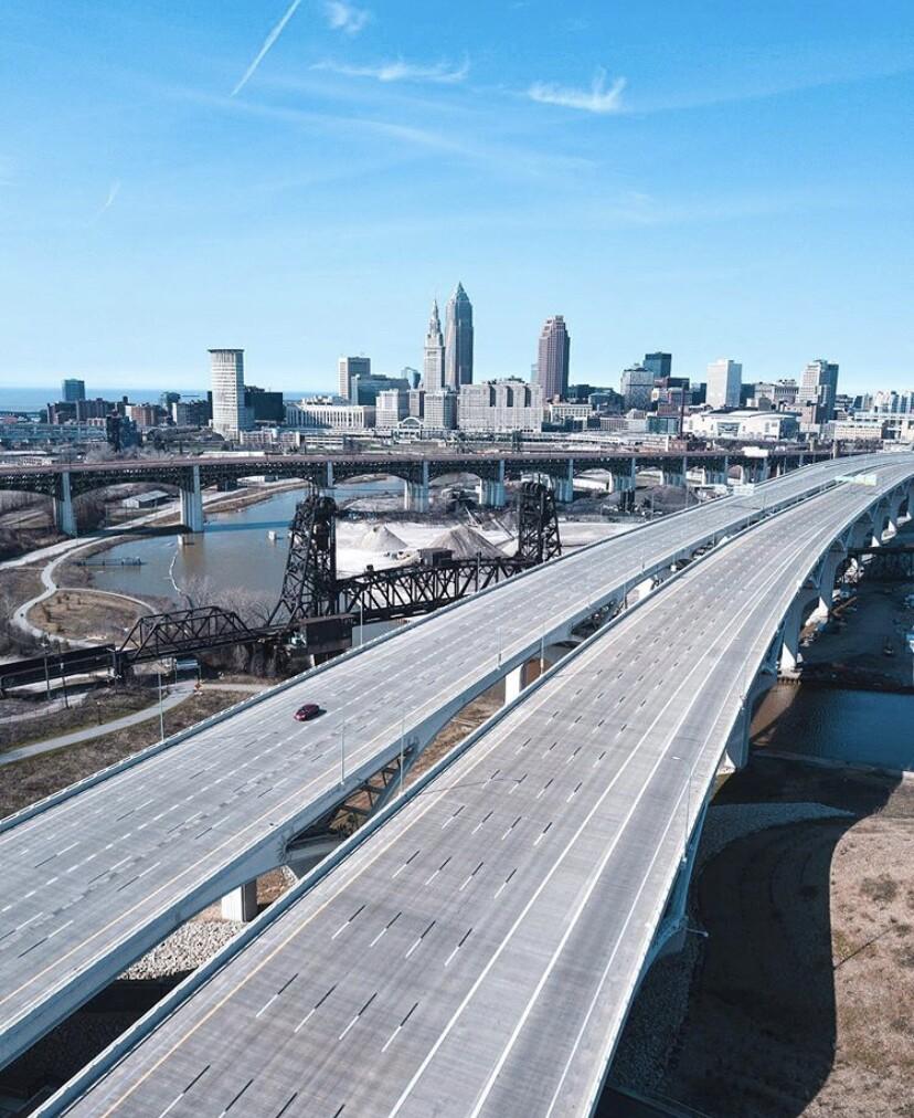View of Cleveland skyline by Alexander Farmer