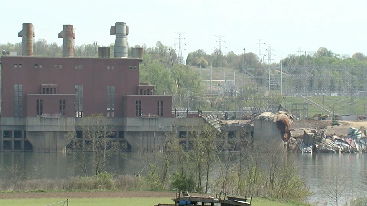 The former Beckjord coal plant on April 21, 2021.