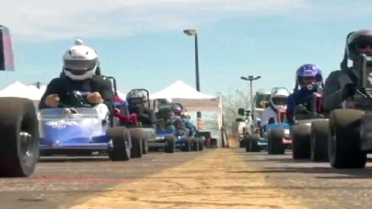 Mini Indy racers raise money for charity